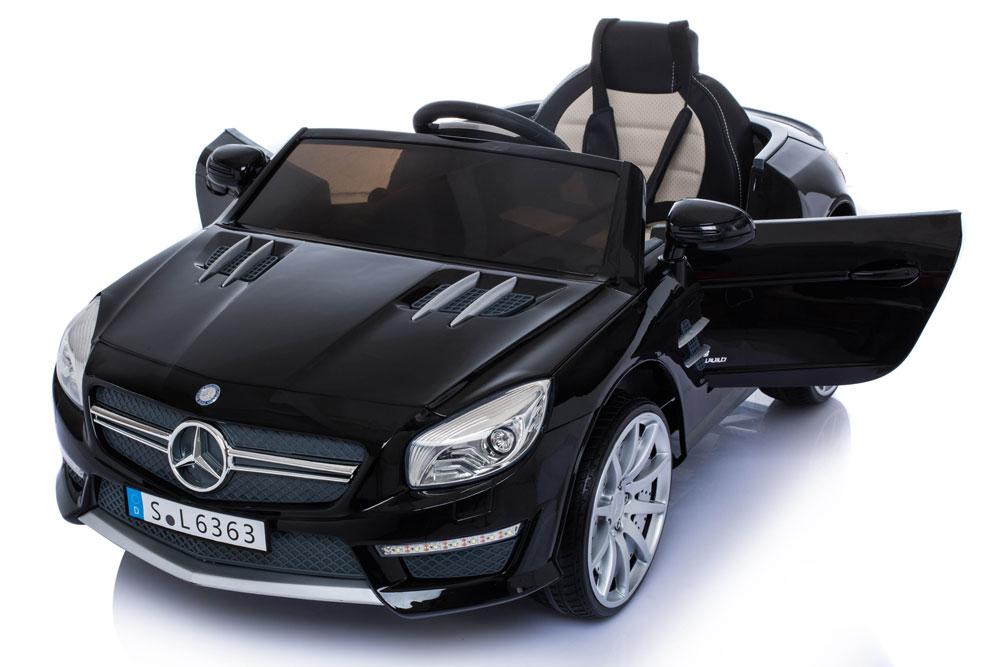 Masinuta electrica cu roti din cauciuc Mercedes Benz AMG SL63 Black