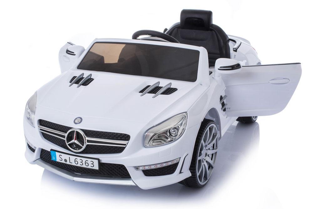 Masinuta electrica cu roti din cauciuc Mercedes Benz AMG SL63 White imagine