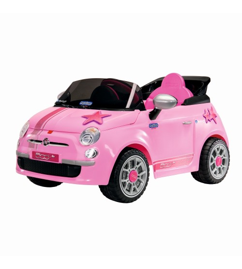 Masinuta electrica cu telecomanda Fiat 500 Star Pink Peg Perego imagine