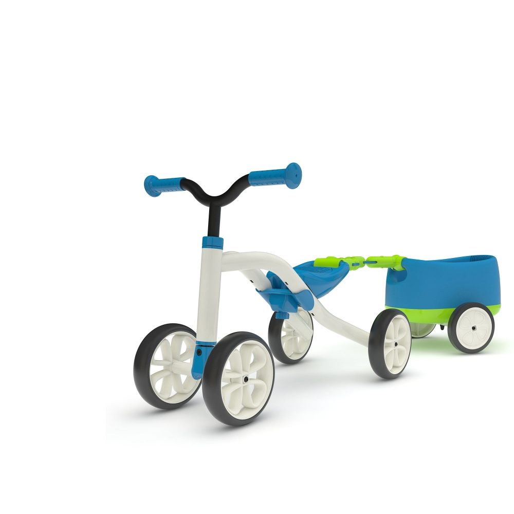 Vehicul Quadie cu remorca albastru