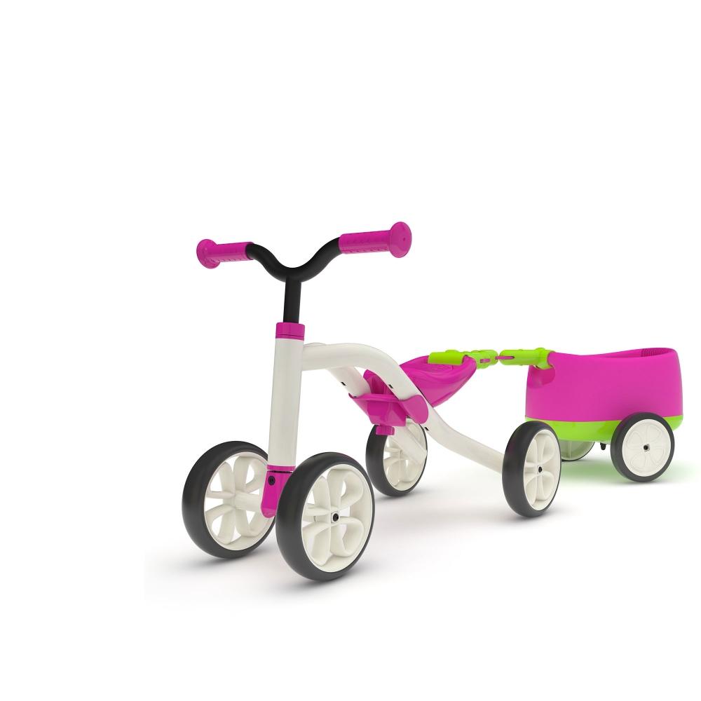 Vehicul Quadie cu remorca roz