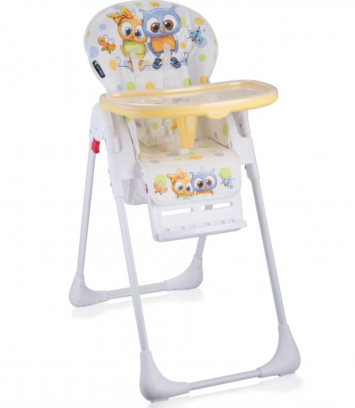 Scaun de masa reglabil Tutti Frutti white baby owls