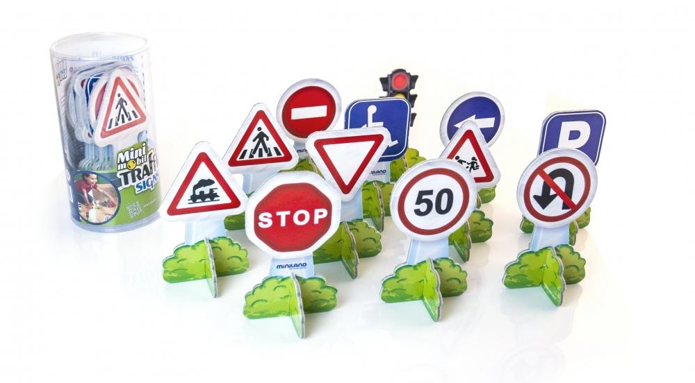 Set 12 semne de circulatie mini Miniland - 1