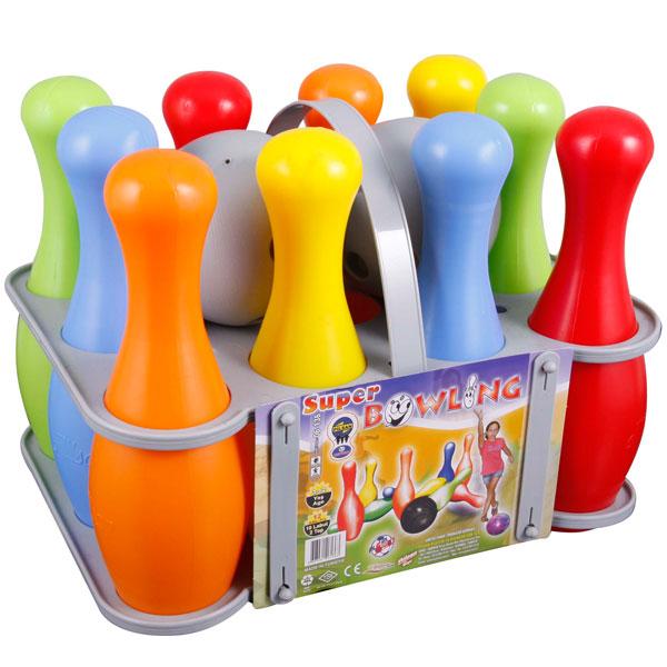 Set Bowling Cu Popice Si Bila Super Bowling