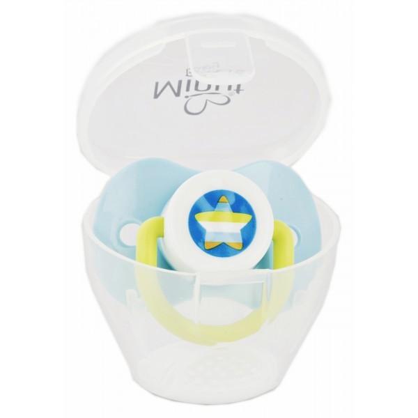 Suzeta Minut Baby cu cutie pentru sterilizare Bleu