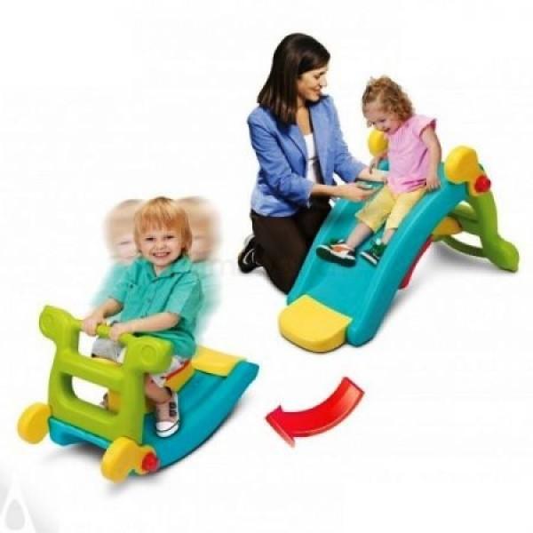Tobogan pentru copii Grown Up Maxi Slide 2 in 1 cu balansoar