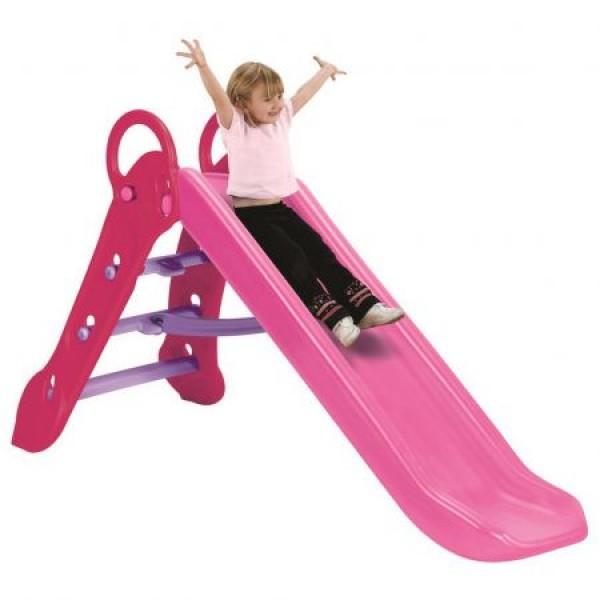 Tobogan pentru copii Grown Up Maxi Slide pliabil si ajustabil pe inaltime roz imagine