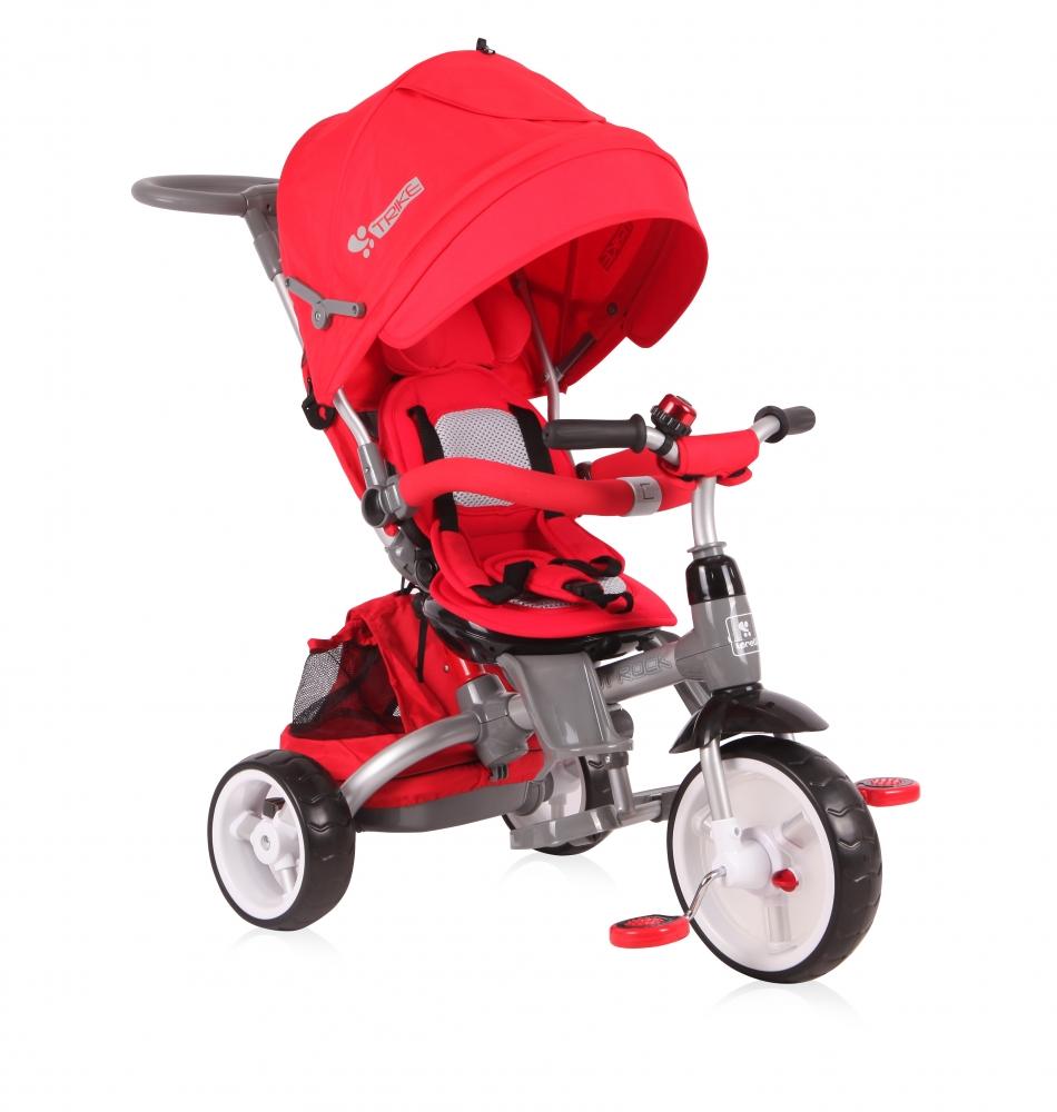 Tricicleta Cu Sezut Reversibil Hot Rock Red