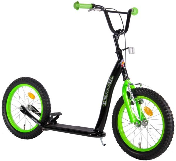 Trotineta copii cu 2 roti mari 16 inch Volare negru cu verde frana pe ghidon si frana de picior si cric imagine