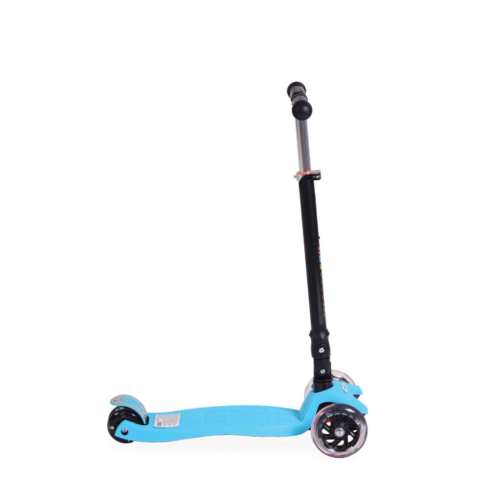 Trotineta cu lumini pliabila si reglabila ABC Scooter Blue