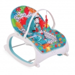Balansoar portabil 2 in 1 Animal Kingdom Blue