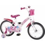 Bicicleta fetite 16 inch Volare cu roti ajutatoare si cosulet roz Kanzone Giggles