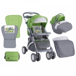 Carucior 2 in 1 Set Apollo Green & Grey Car