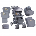 Carucior 2 in 1 Set Apollo Grey Baby Owls