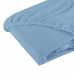 Cearceaf cu elastic din fotir bleu 120x60 cm