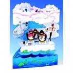 Felicitare 3D Swing Cards dinamica model - Pinguini