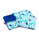 Lenjerie Sensillo Minky set 100x75/35x30 cm blue/elephants color