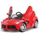 Masinuta electrica Ferrari LaFerrari rosie 6V cu telecomanda 2.4 Ghz cu 2 viteze
