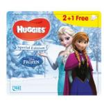 Set de 3 x Servetele umede Huggies BW Natural Care Disney Frozen 56 buc