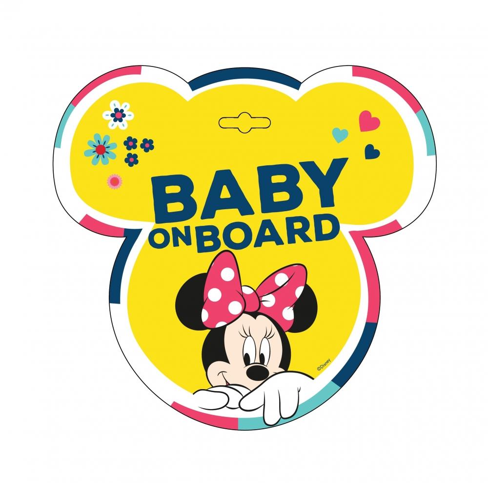 Baby La Bord Stiker Disney Minnie Seven