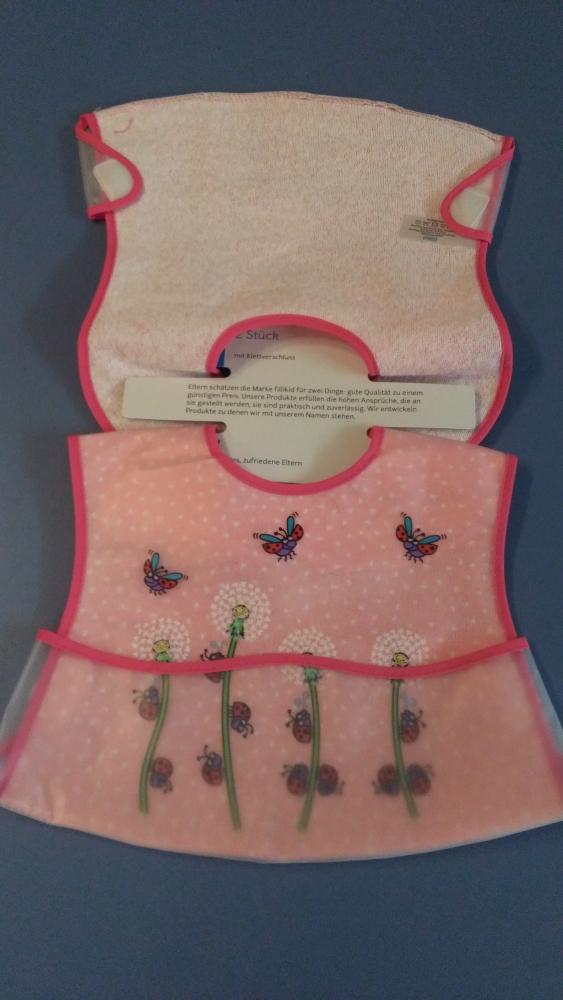 Baveta plastic moale 2set 35x32 cm Gargarite roz Fillikid