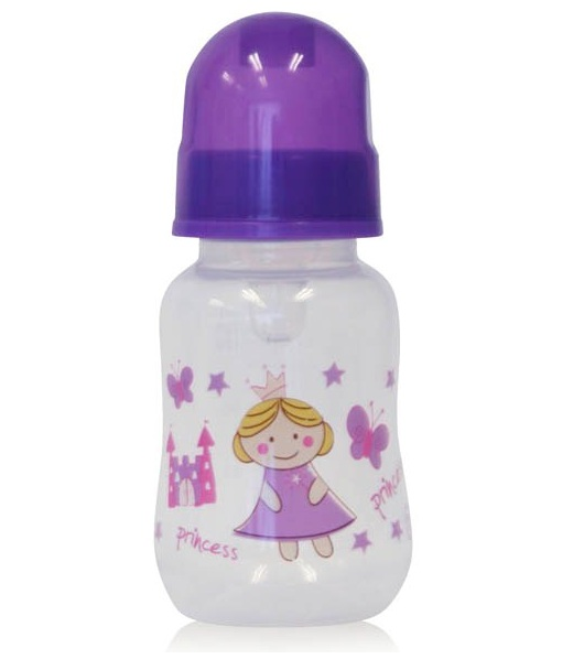Biberon cu desene 125 ml Purple Princess imagine