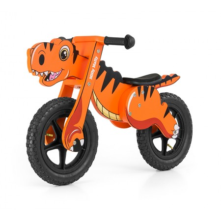 Bicicleta fara pedale Dino Orange