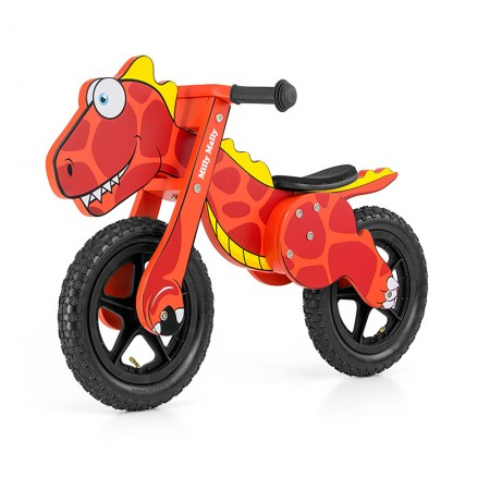 Bicicleta fara pedale Dino Red