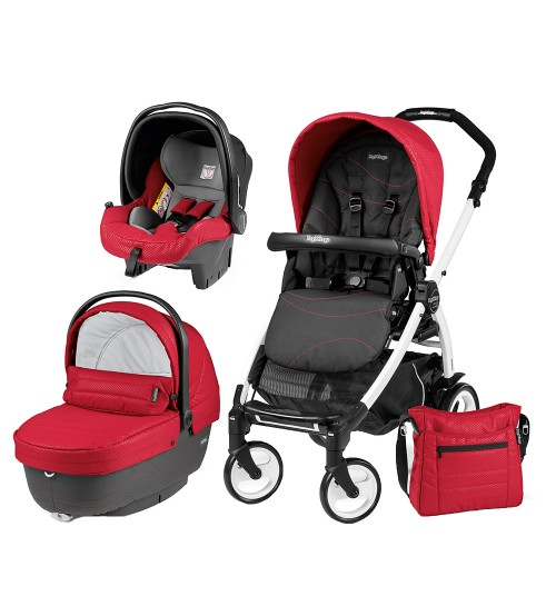 Carucior 3 In 1 Peg Perego Book Plus 51 Blackwhite Sportivo Bloom Bloom Red