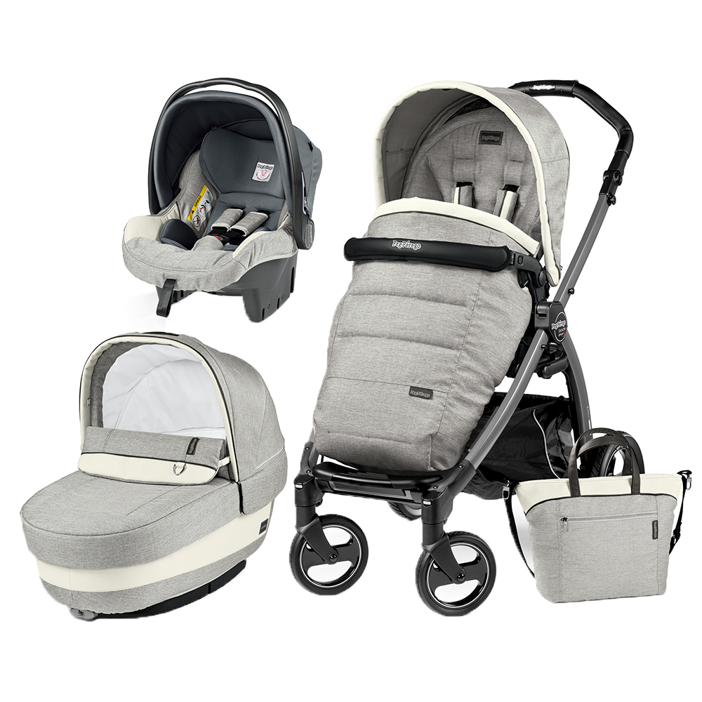 Carucior 3 In 1 Peg Perego Book Plus S Black Completo Elite Luxe Opal