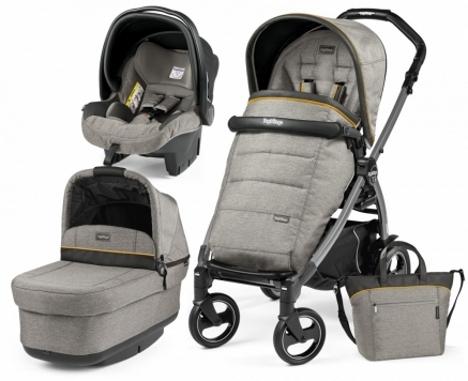 Carucior 3 In 1 Peg Perego Book Plus S Black POP-UP Elite Luxe Grey
