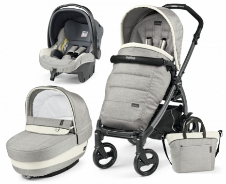 Carucior 3 In 1 Peg Perego Book Plus S Black POP-UP Elite Luxe Opal