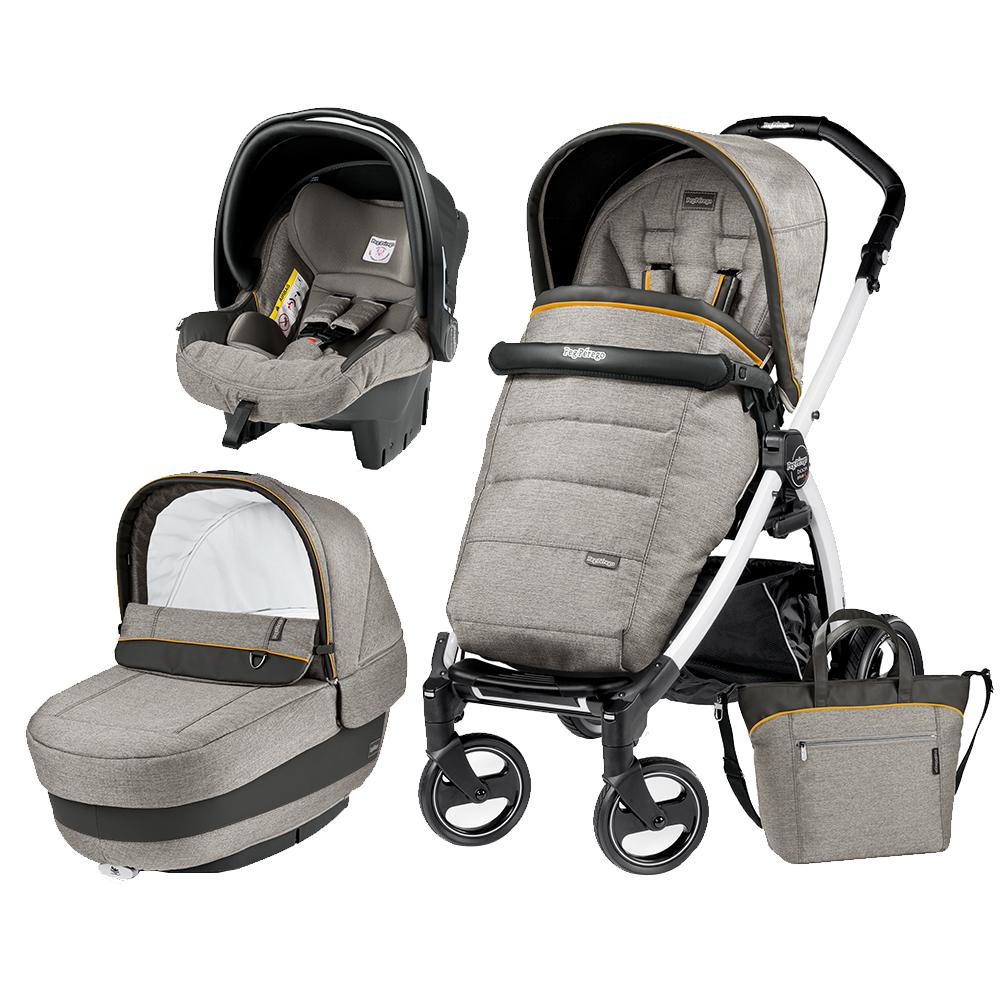 Carucior 3 In 1 Peg Perego Book Plus S BlackWhite Completo Elite Luxe Grey din categoria Carucioare Copii de la PEG-PEREGO
