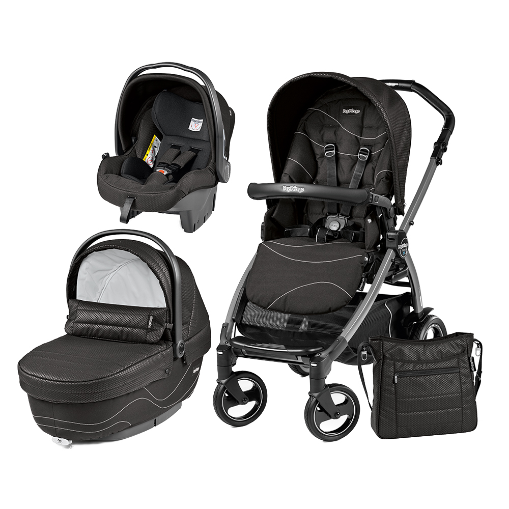 Carucior 3 In 1 Peg Perego Book Plus 51 S Black Sportivo Bloom Bloom Black
