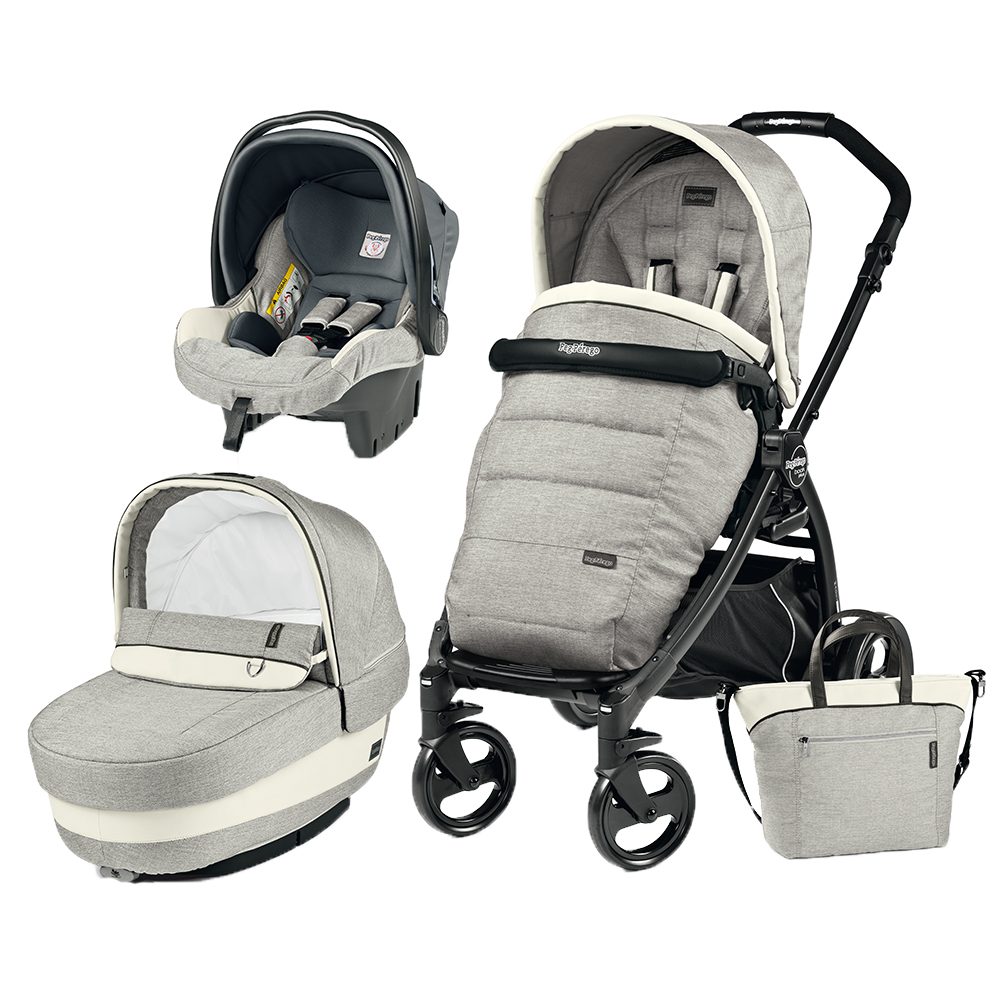 Carucior 3 in 1 Peg Perego Book Plus Black Matt Completo Elite Luxe Opal