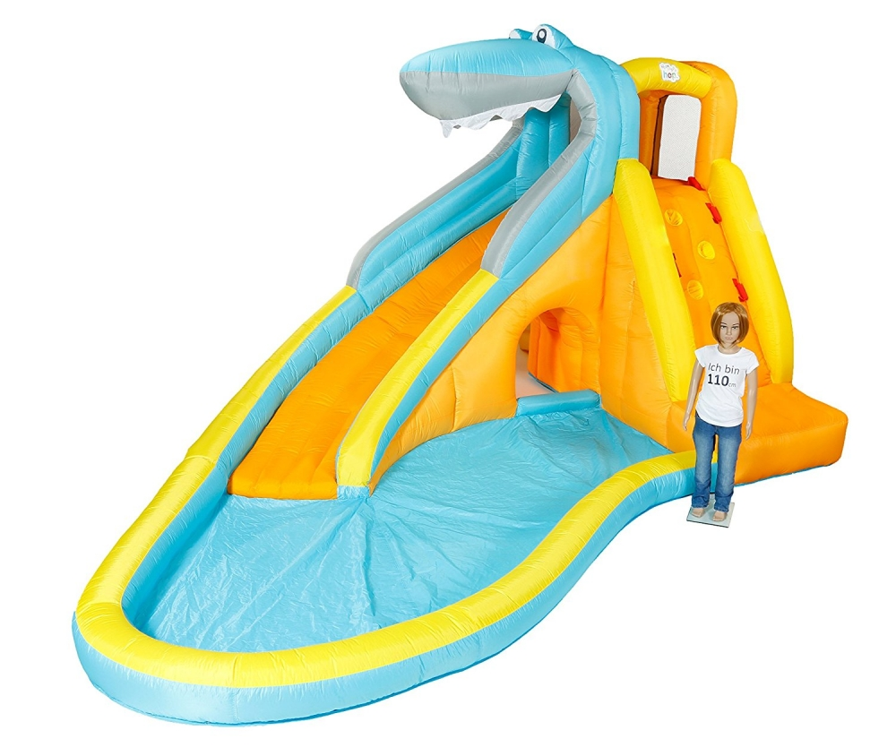 Castel gonflabil cu tobogan de apa Hai la joaca imagine