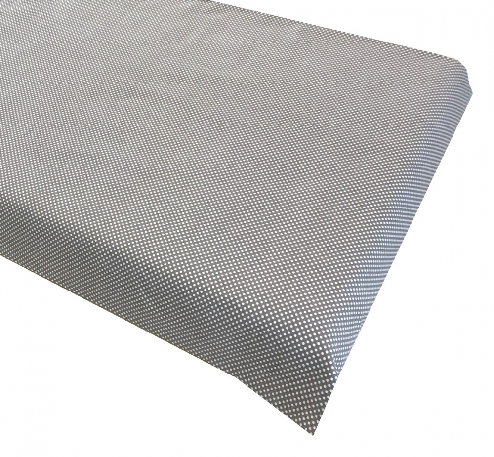 Cearsaf cu elastic roata 120x60 cm Buline albe pe gri imagine
