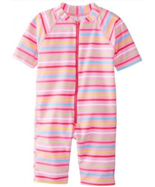 Costum Intreg Cu Filtru Uv Iplay Pink Multi Stripe