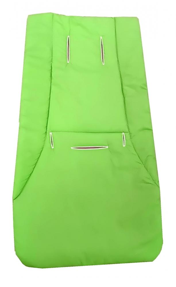 Husa de bumbac pentru carucior Uni verde imagine