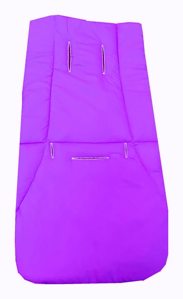 Husa de bumbac pentru carucior Uni violet
