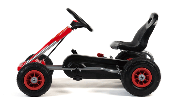 Kart Cu Pedale Si Roti Gonflabile Falcon Red
