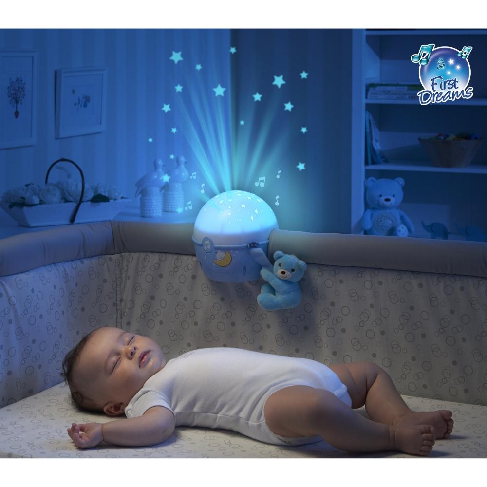 Lampa muzicala Chicco Aproape de stele bleu 0luni+