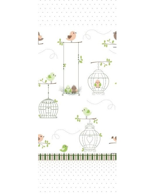 Lenjerie patut cu 5 piese Sweet Birdie Green 052