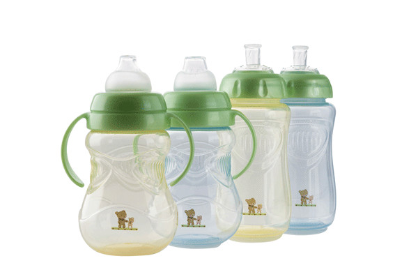 Pahar cu manere 300 ml 4L+ Blue mintgreen Rotho-babydesign