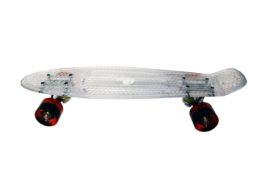 Penny board Mad Abec-7 crystal clear imagine