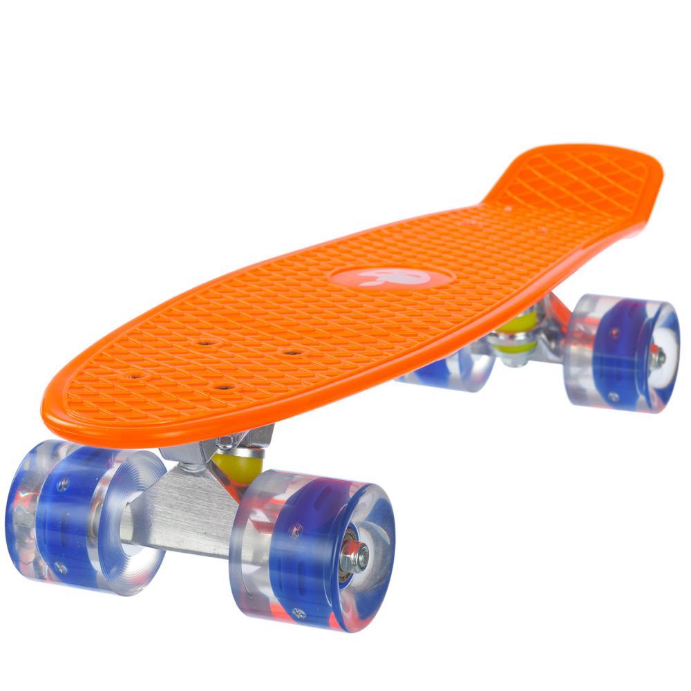 Penny board Mad Abec-7 roti luminoase orange