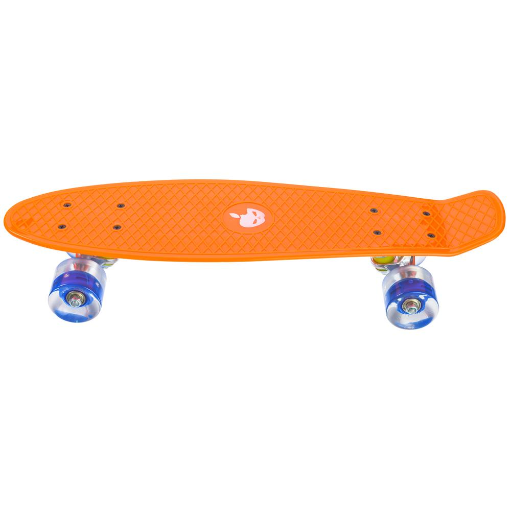Penny board Mad Abec-7 roti luminoase orange imagine