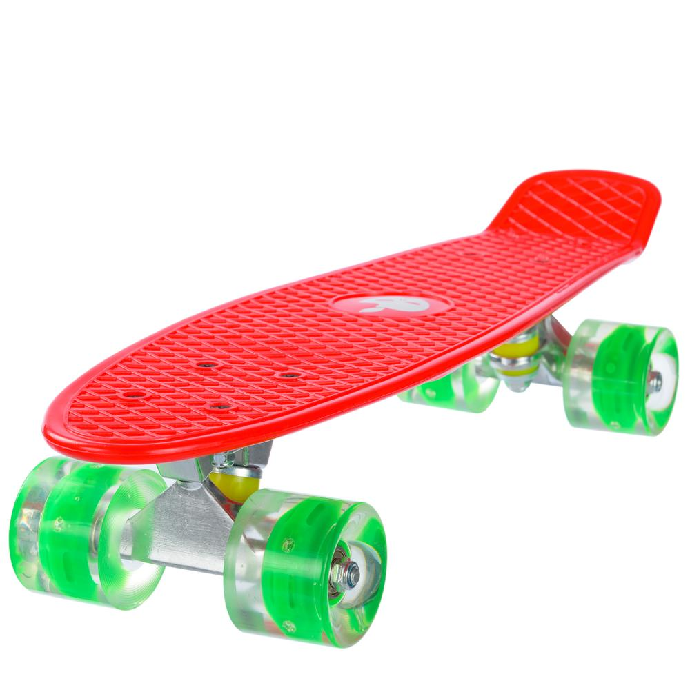 Penny board Mad Abec-7 roti luminoase red
