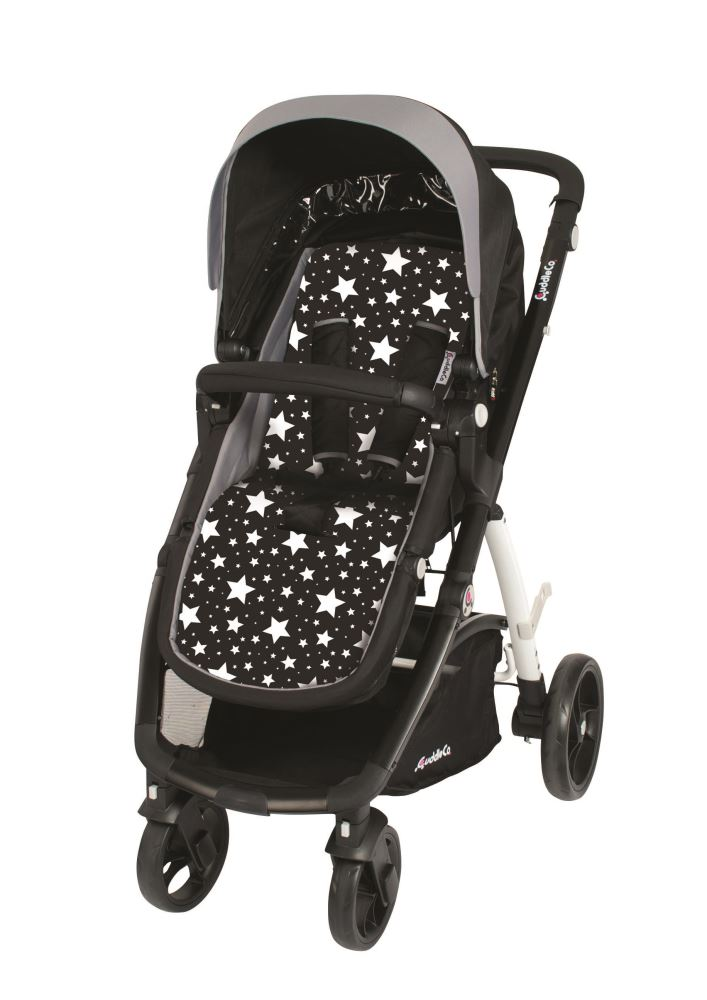 Saltea carucior Comfi Cush Black and White Stars