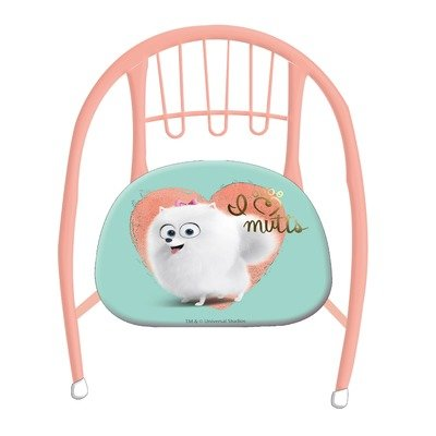 Scaun metalic pentru fetite Pets